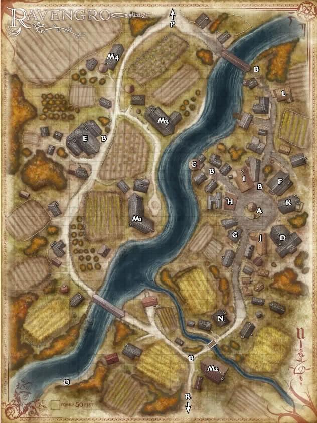 Ravengro players map