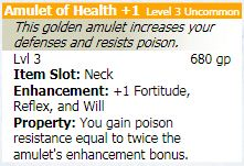 Amulet of health 1