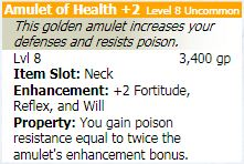 Amulet of health 2