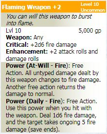 Flaming weapon 2