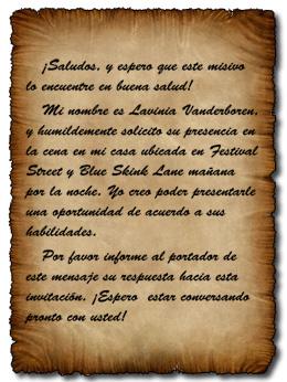Carta de Lavinia