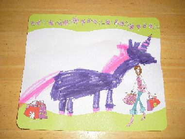 Aoi s purple unicorn