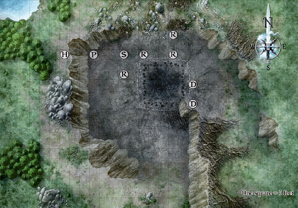 Burial Site - Encounter Map