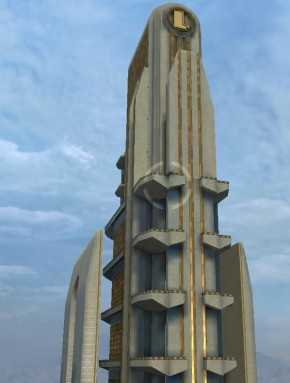 290px lexcorp tower