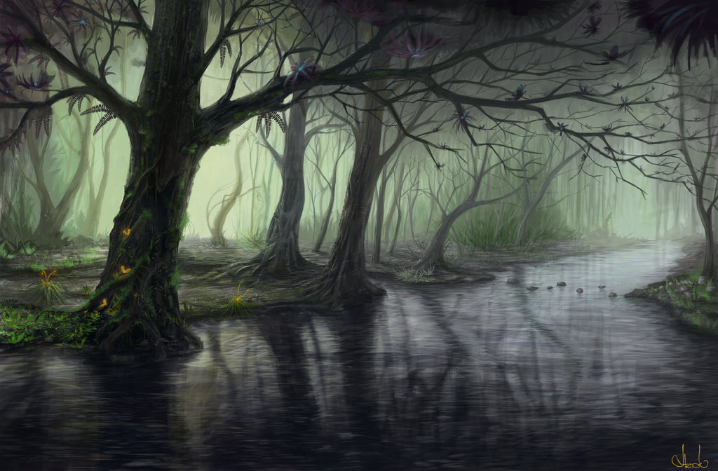 Fantasy forest by azot18 d48cqbg