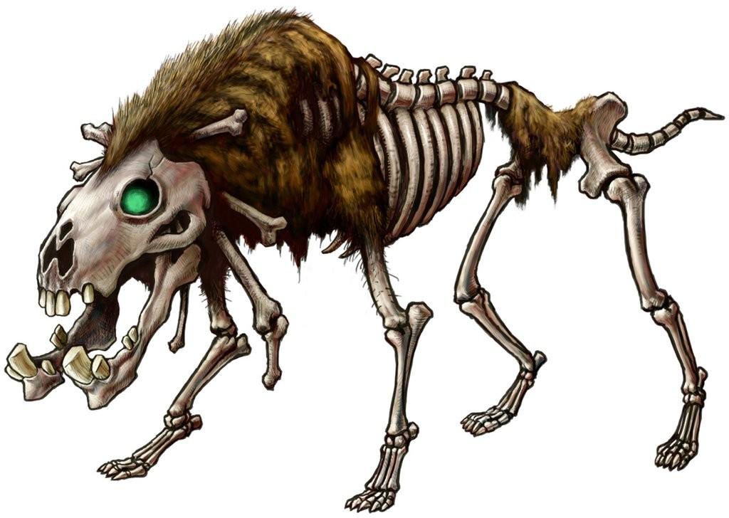 Skeletal wolf