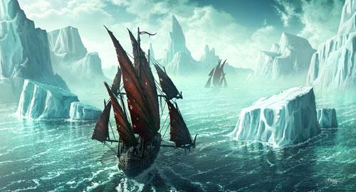Iceswept ocean passage