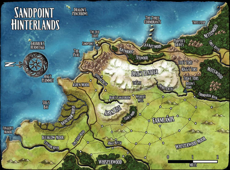 Sandpoint hinterlands map
