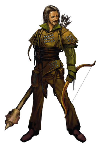 Ranger with bow and mace