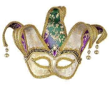 Color change mardi gras mask