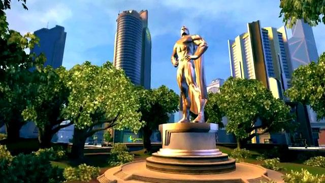 Superman memorial statue