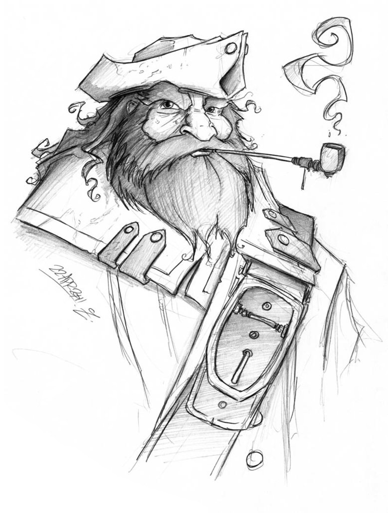 Pirate and pipe by jollyjack d3euwgk