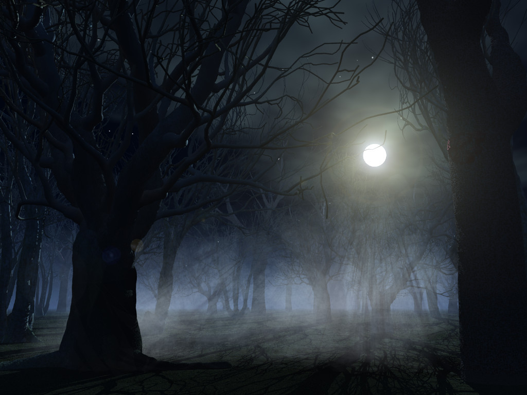 Spooky forest background by indigodeep
