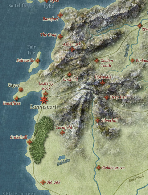 game of thrones houses map with The Westerlands on Silver Shade Metal moreover Reach moreover The Westerlands also 616 additionally Iceland Vacations.