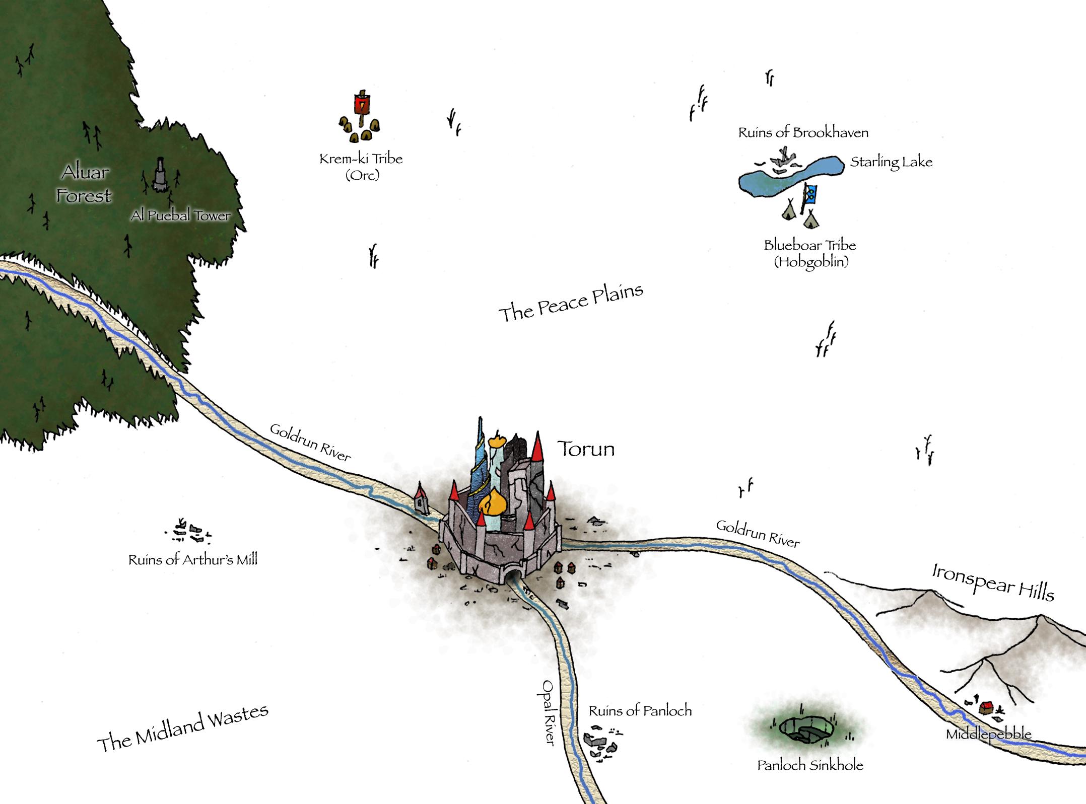 Torun map