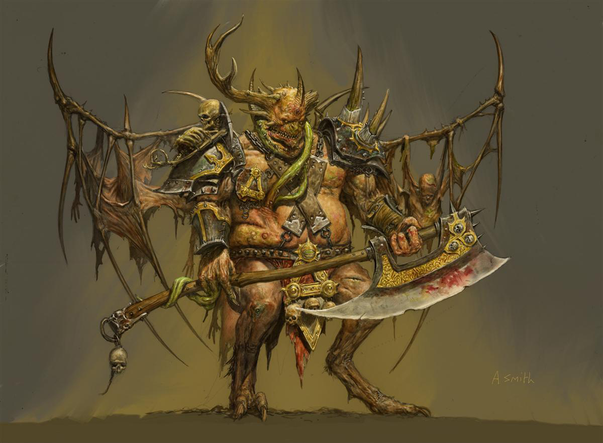 Chaos npc nurgle demon prince