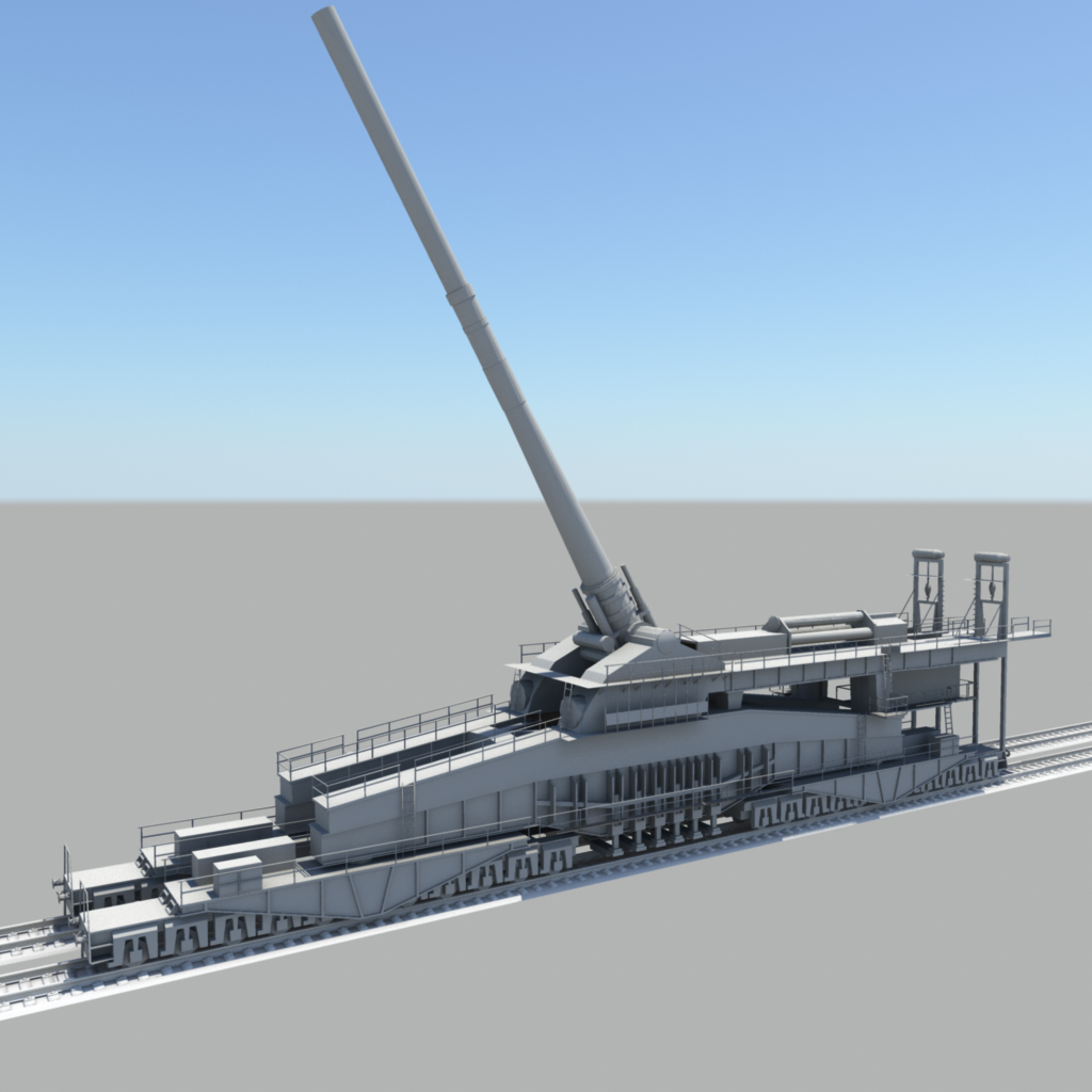 80cm k   dora   railway gun by royal blackwatch