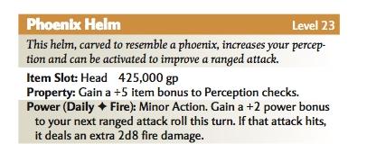 Phoenix helm phb stats