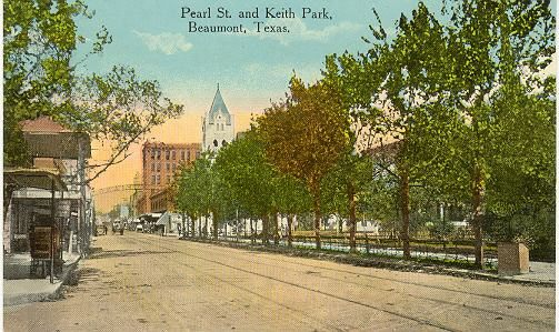 Pearl and keith st park beaumont1890