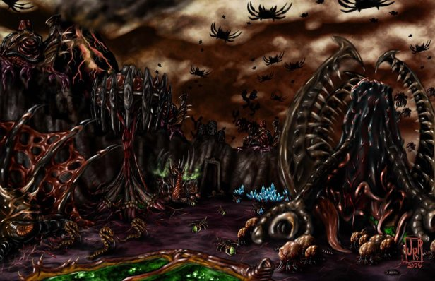 Sci fi.fantasy.zerg base.zergbase.jpg.r zd.219053