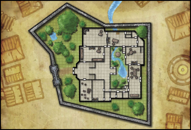 Plano de la planta baja de la Mansión