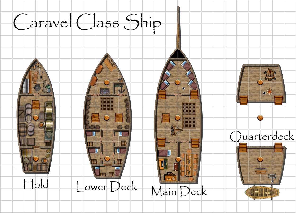 Caravel ship sailng