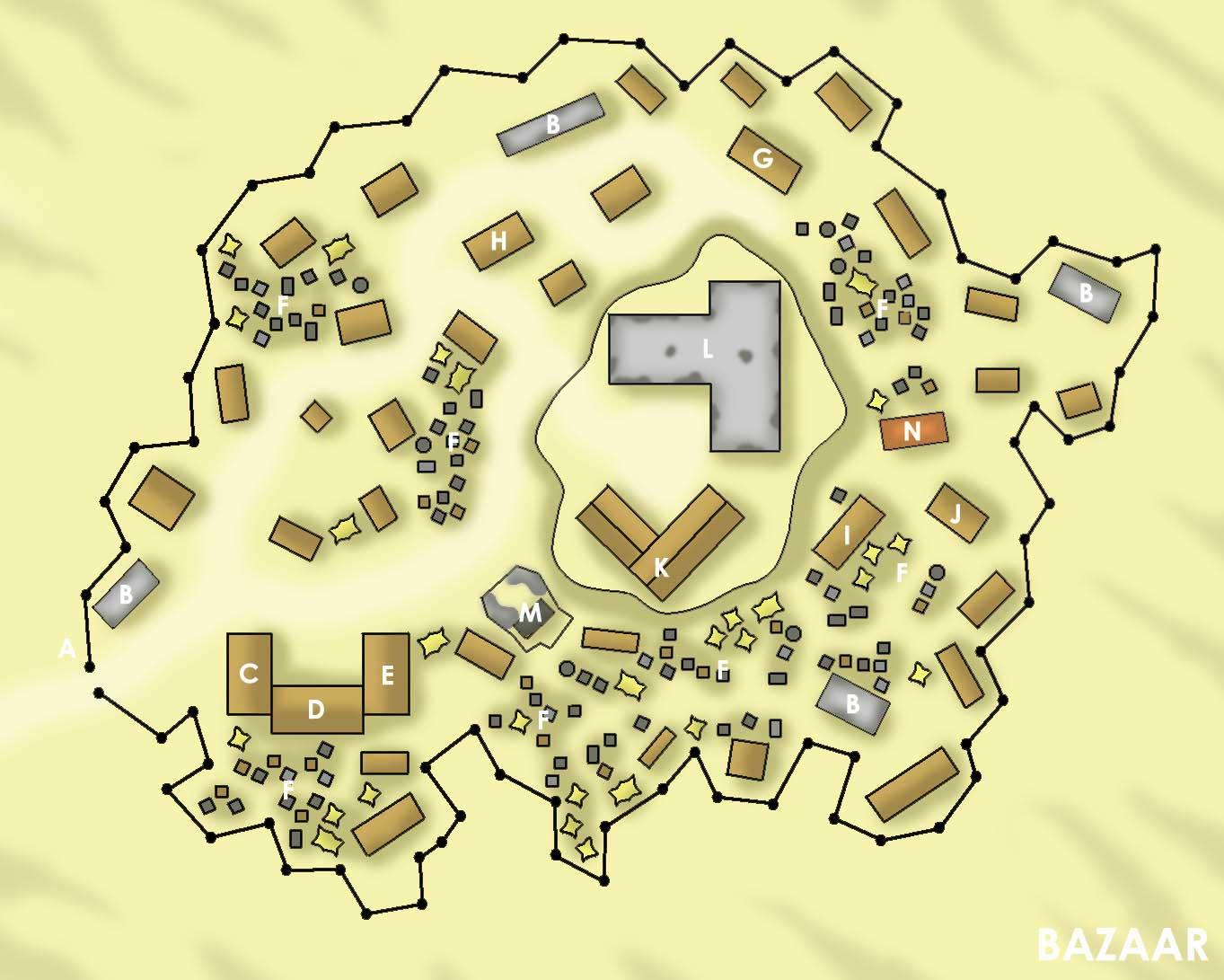 Bazaar map
