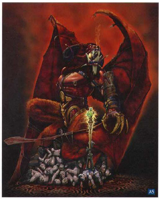 Painting of orcus