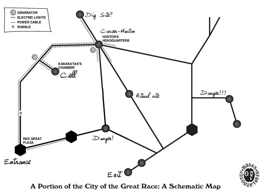 Map of the City of the Great Race