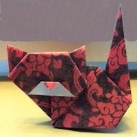 Neko chan origami