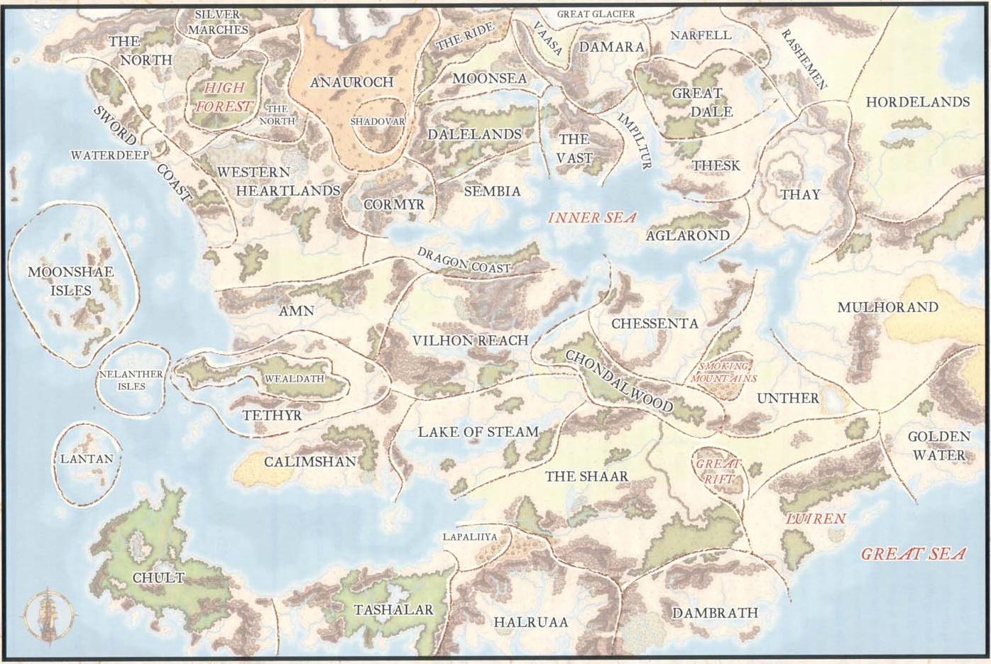 Forgotten realms regions