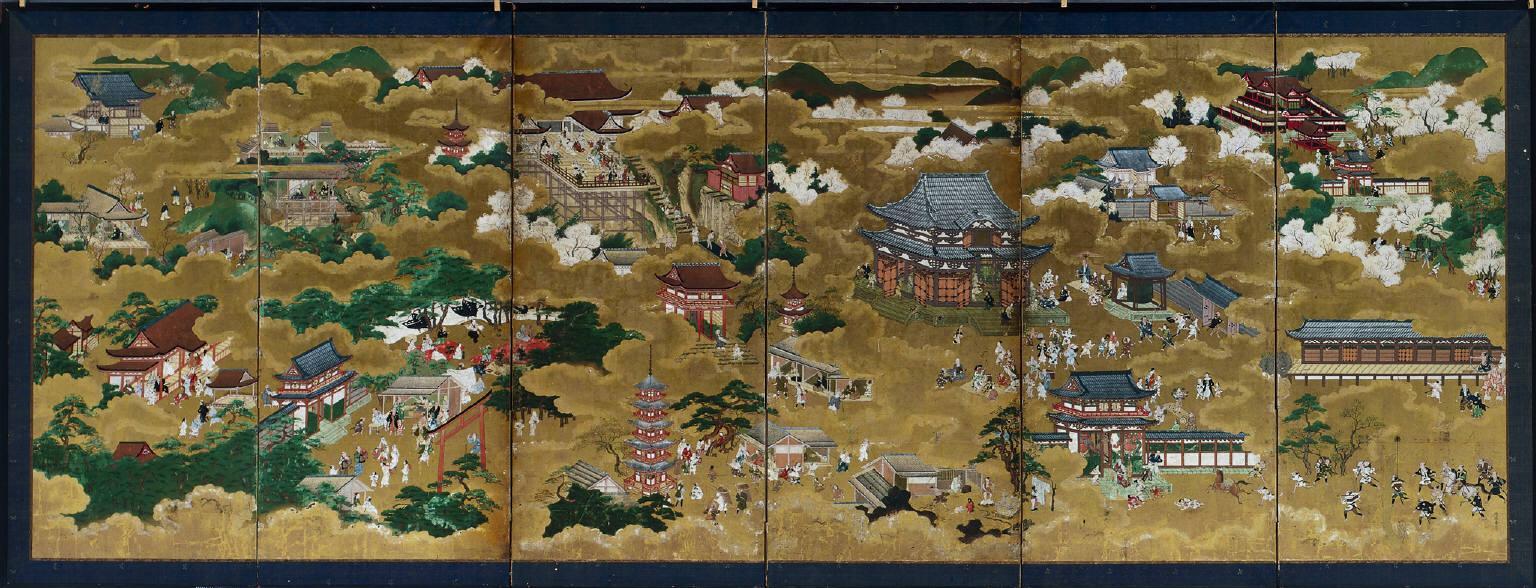 Japan  17th century views of kyoto 17th century painting artwork print