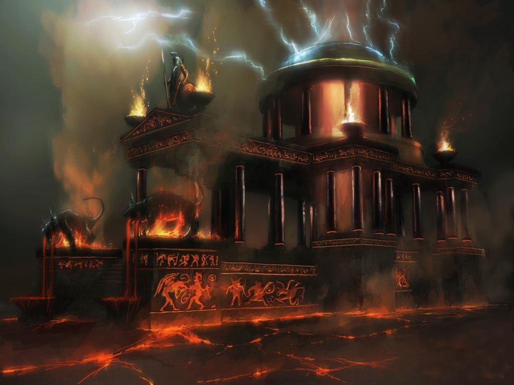 Grecian temple evil