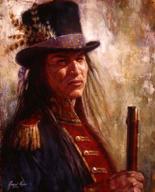 411 n civilized warrior lakota oil on canvas 2006 20 x16
