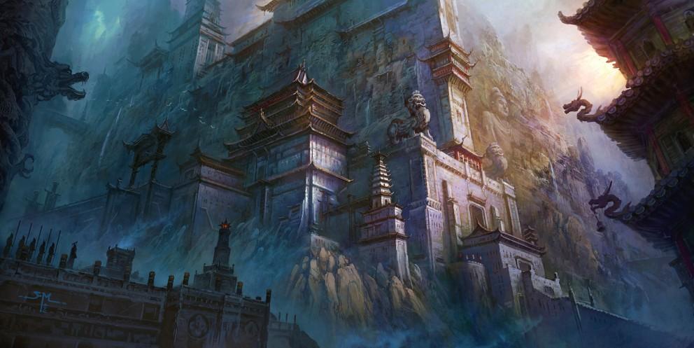 Asian myths of hidden city