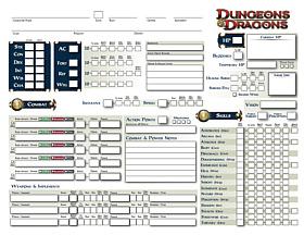 Hoja de Personaje D&D - página 1