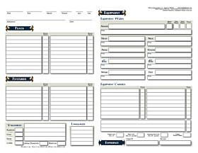 Hoja de Personaje D&D - página 2