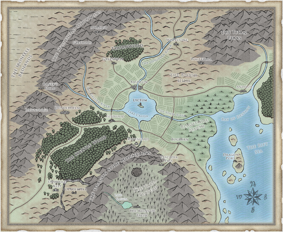 Shadows of asteron campaign map