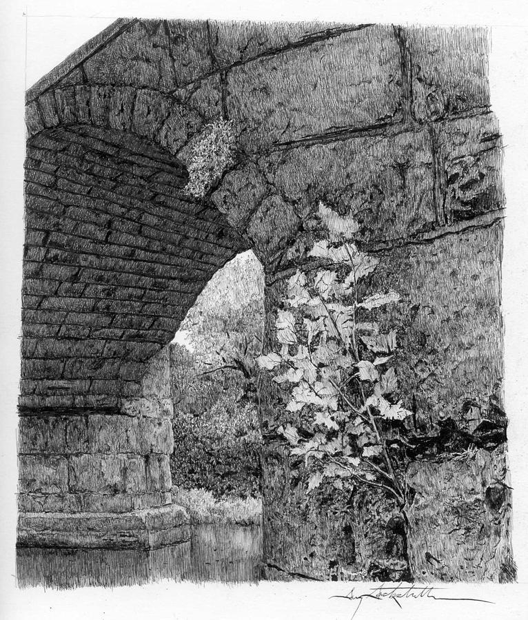 Stone bridge with sapling gary gackstatter