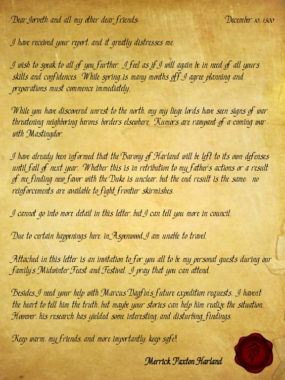 Merrick letter