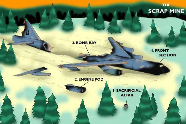 bomber wreckage