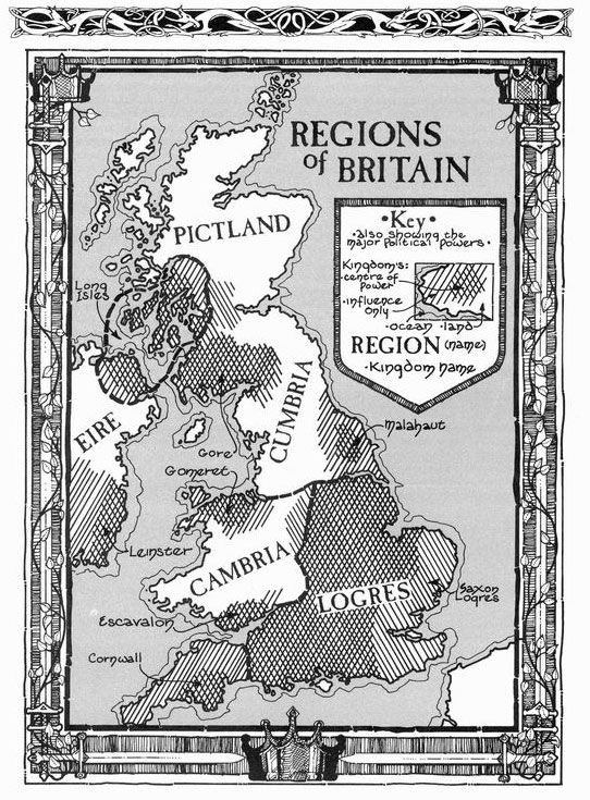 Regions of arthur s britan