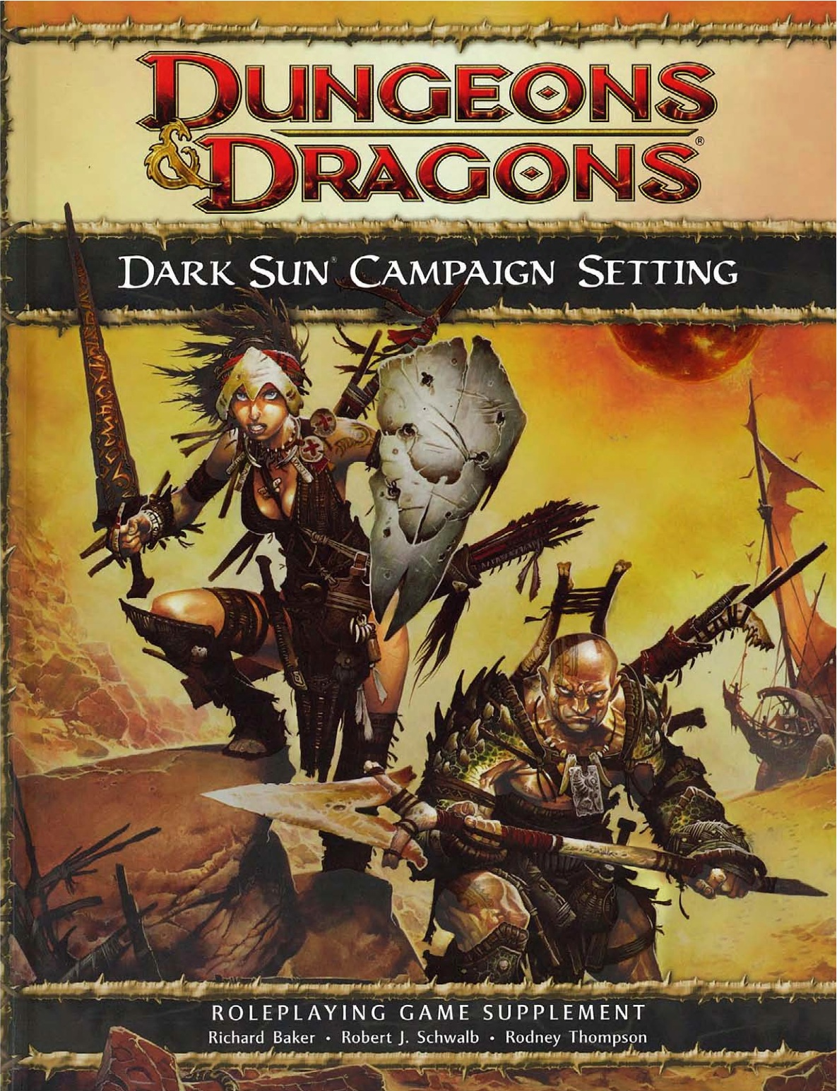Dark sun campaign setting cover