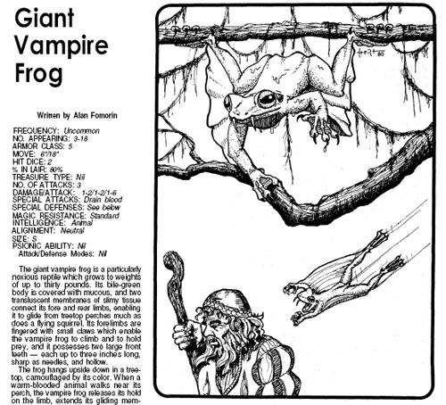 D d giant vampire frog