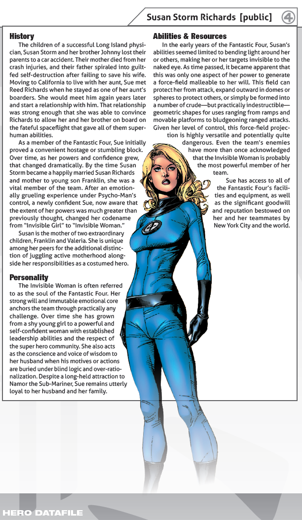 Invisible woman fluff