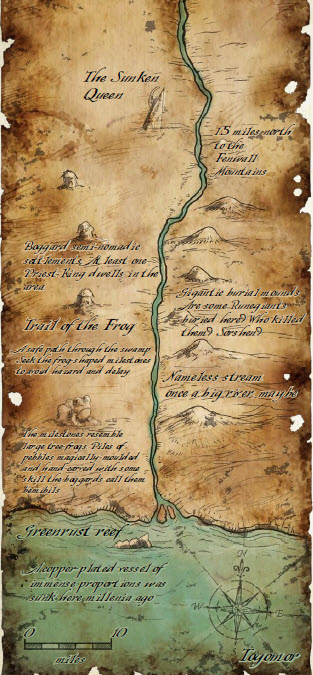 Map to sunken queen