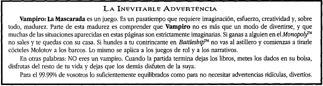 Vampiro - Advertencia
