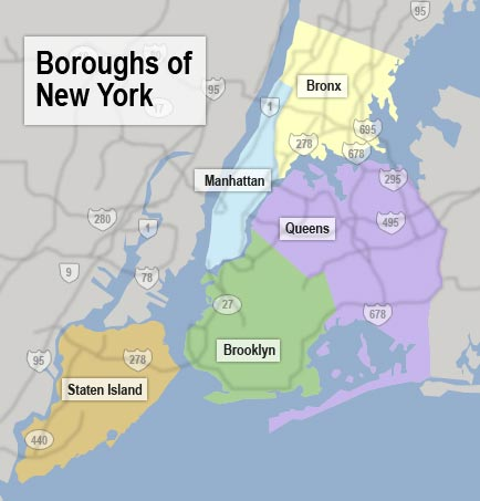 Nyc boroughs map