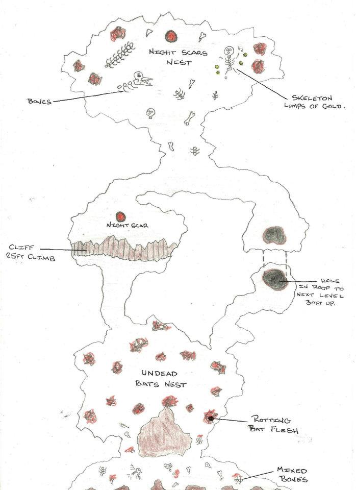 Nightscare's Cave Map