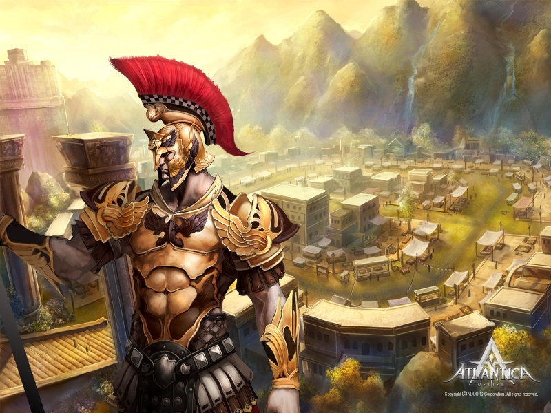 Fantasy sparta warrior from mmorpg video game artwork 800x600